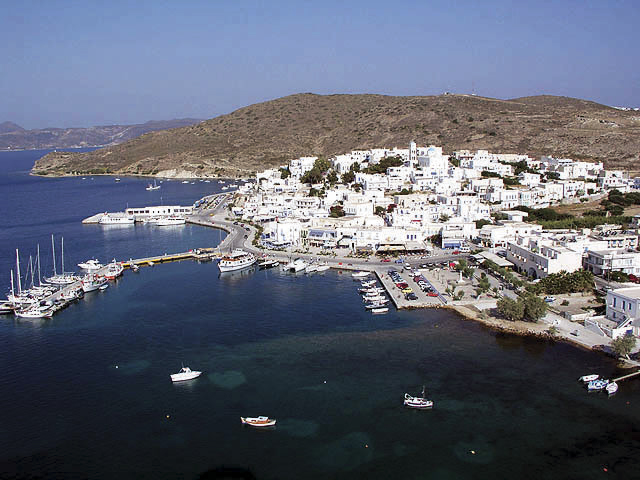 Cruise port of Milos. Adamantas port