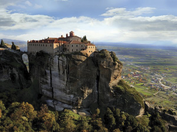 Monasteries built on the great rocks of Meteora