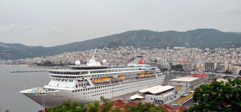 View of the cruise port and passengers terminal