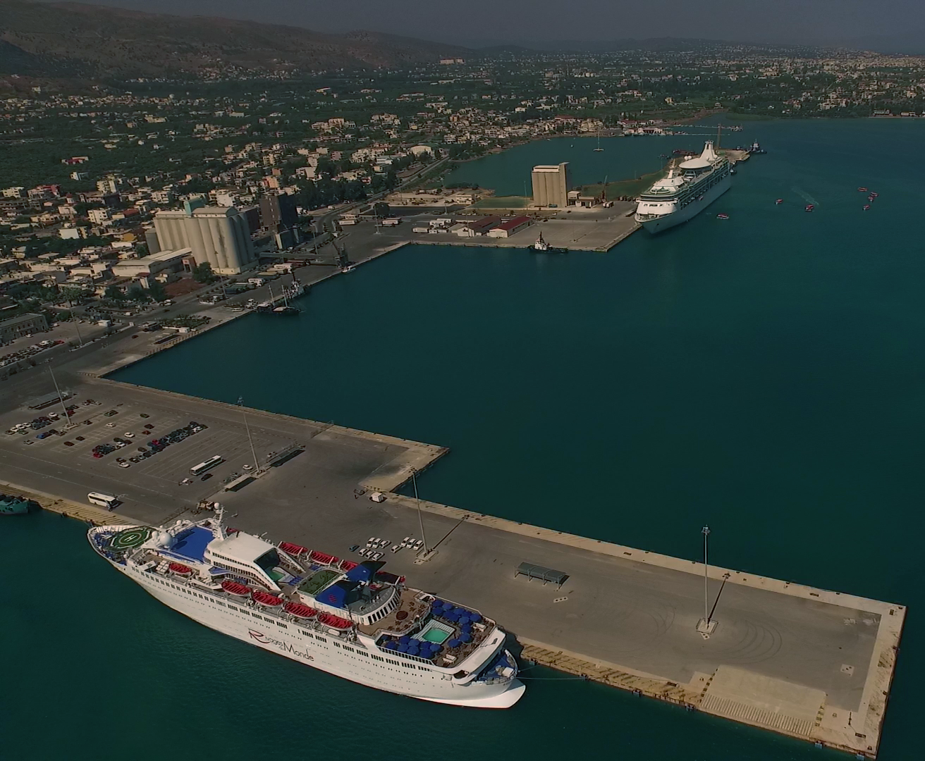 Aerial View of Chania Port